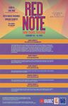 Red Note New Music Festival Poster, 2019 by Carl Schimmel, Roy Magnuson, and School of Music