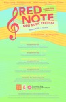 Red Note New Music Festival Poster, 2020