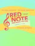 Red Note New Music Festival Program, 2020 by Carl Schimmel and Roy Magnuson