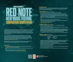 Red Note New Music Festival Composition Competition Announcement, 2021