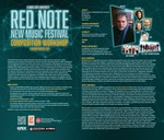 Red Note New Music Festival Composition Workshop Announcement, 2021