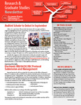 Research & Graduate Studies Newsletter Volume 1 Fall 2015 by Illinois State University