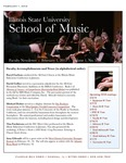 School of Music Faculty Newsletter, February 2012