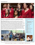 School of Music Faculty Newsletter, September 2017 by School of Music
