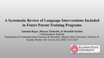 A Systematic Review Of Language Interventions Included In Foster Parent Training Programs by Maesyn Theleritis, Amanda Regez, and Meredith Peebles
