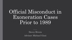 Official Misconduct in Exoneration Cases Prior to 1989