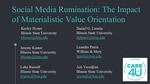 Social Media Rumination: The Impact Of Materialistic Value Orientation by Keeley Hynes
